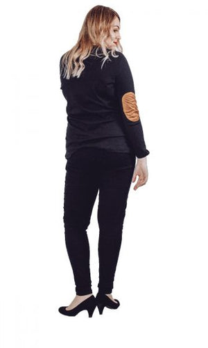 Suede Patches Jumper