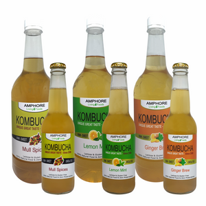 GENUINE KOMBUCHA - Individual Bottles - 1x 330ml($4.95) OR 1x 1000ml($10.95)