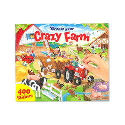 CRAZY FARM STICKER BOOK