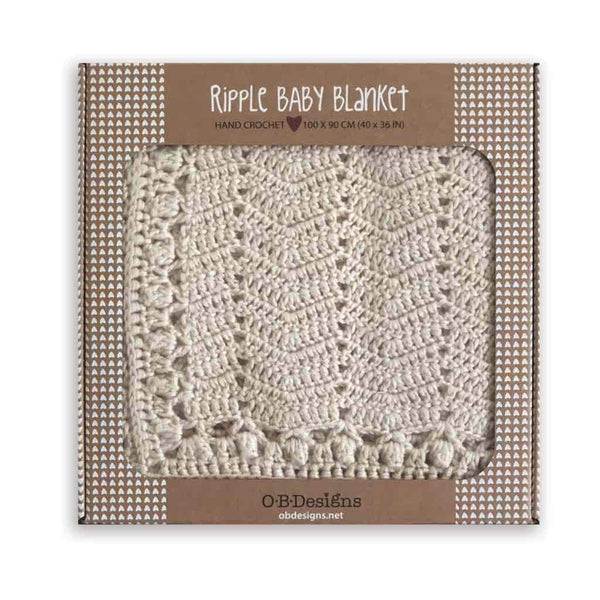 NATURAL CROCHET BABY BLANKET