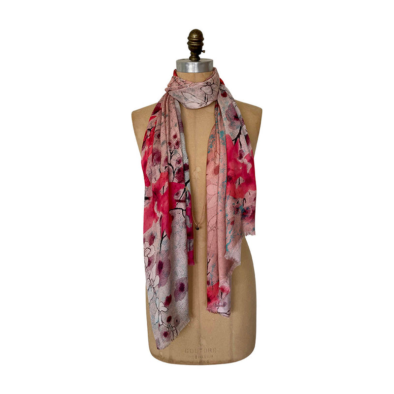 BLUSH BLOOMS SCARF