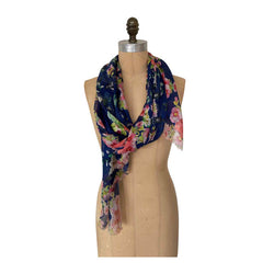 POSY PLUS NAVY SCARF
