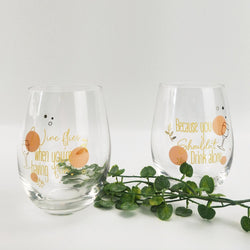 PARTNERS IN WINE - STEMLESS WINE GLASSES