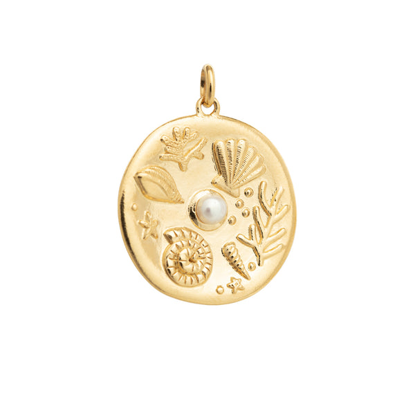 BY THE SEA COIN CHARM
