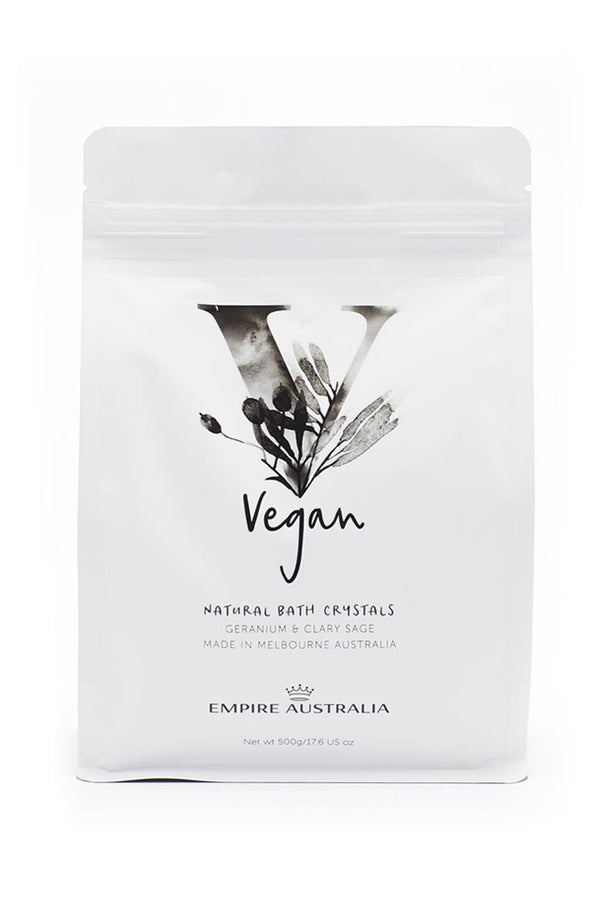 VEGAN PURE BATH CRYSTALS 500G