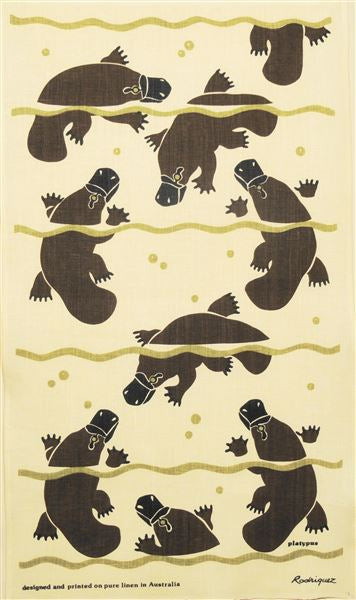 PLATYPUS LINEN TEA TOWEL