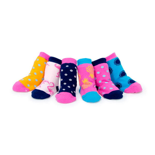 TIPPY TOES GIRLS SOCKS - TROPICAL PRINTS