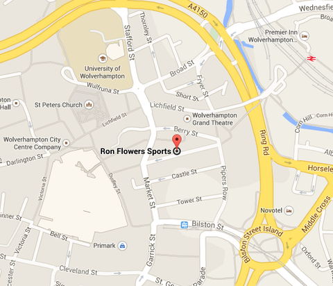 Map - Ron Flowers, 28 Queen Street, Wolverhampton, WV1 3JW