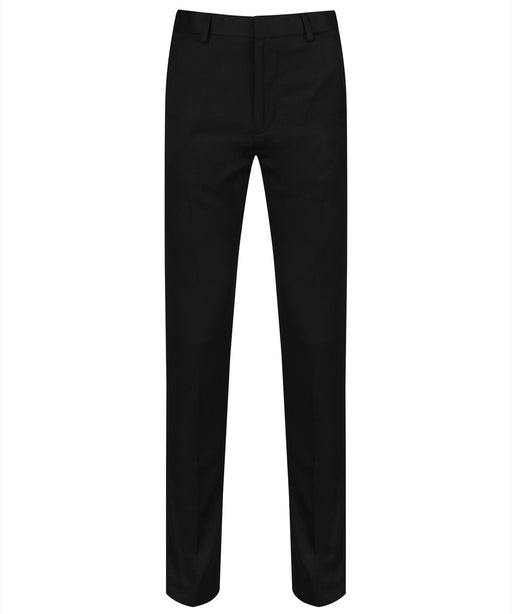 Boys Plain Black Trousers
