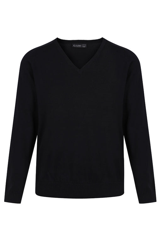 V-Neck 50/50 Knitted Jumper