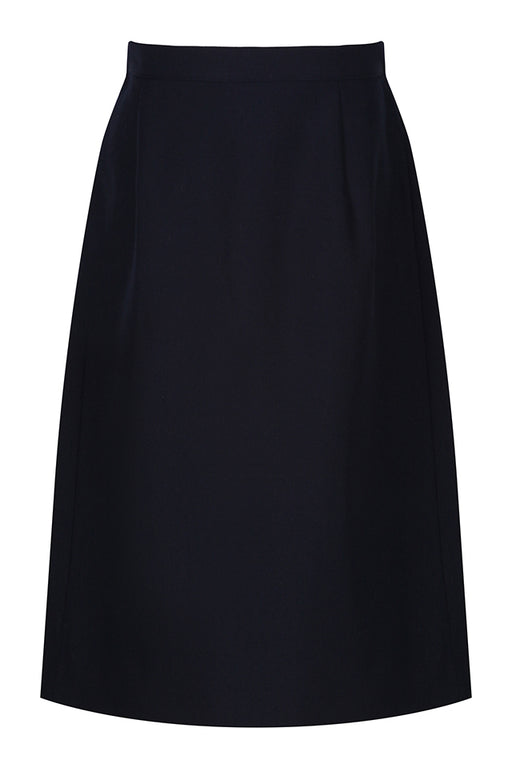 Girls Trutex Navy Back Vent Skirt