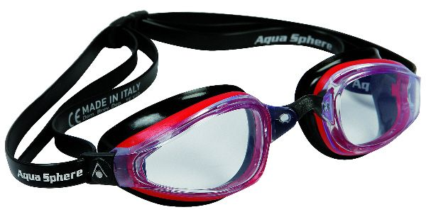 AquaSphere K180 Goggle - Black/Red