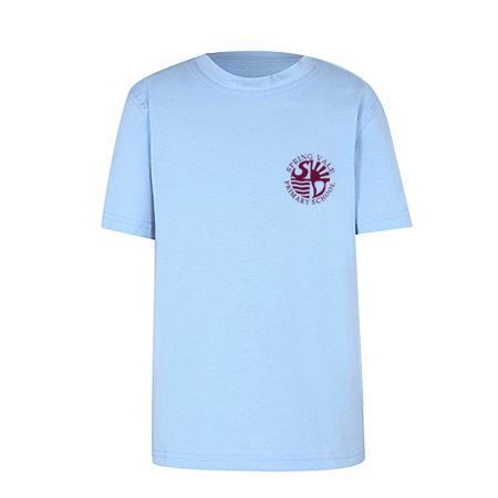 Sky Blue T-Shirt with Badge