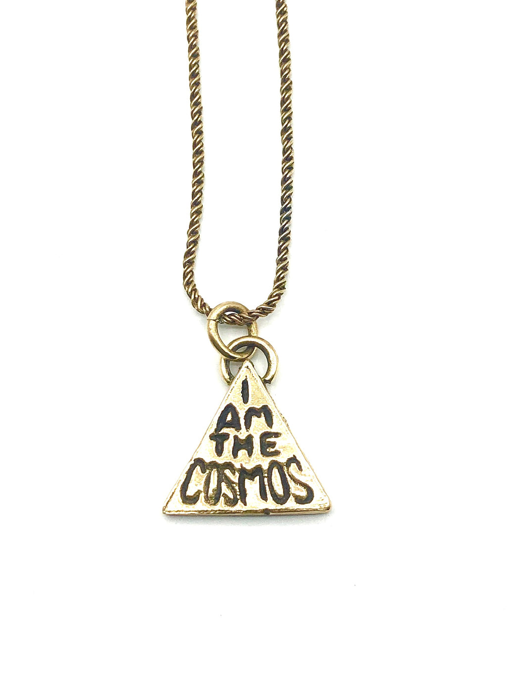 I Am The Cosmos brass necklace