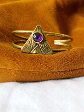 Load image into Gallery viewer, AMETHYST ARROW CUFF
