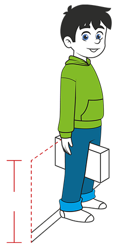 Picture of how to measure your child