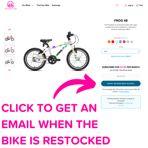 know when a bike is back in stock