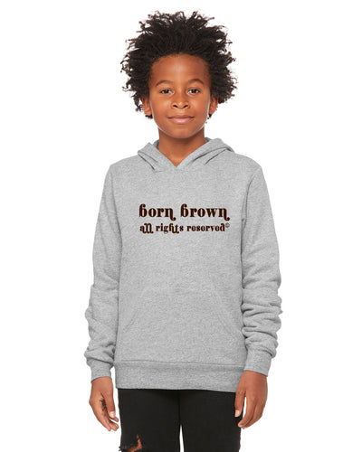Chocolate Vintage Youth Hoodie