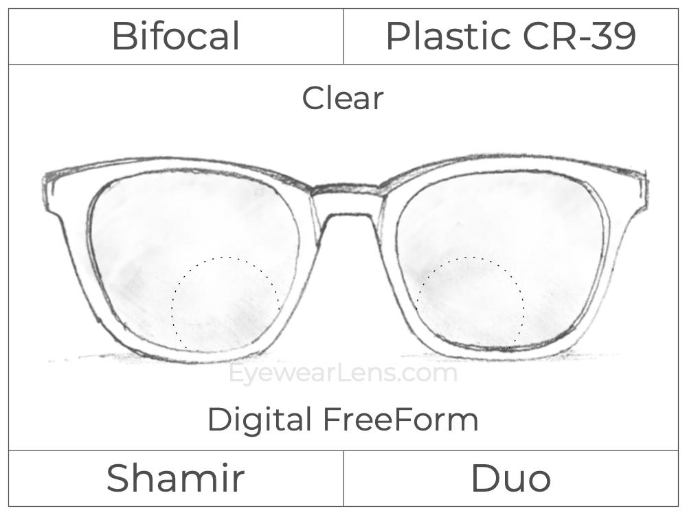 Bifocal - Shamir Duo - Plastic - Digital FreeForm - Clear
