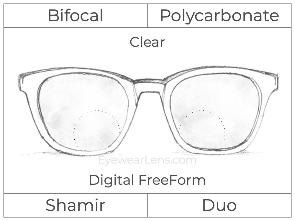 Bifocal - Shamir Duo - Polycarbonate - Digital FreeForm - Clear