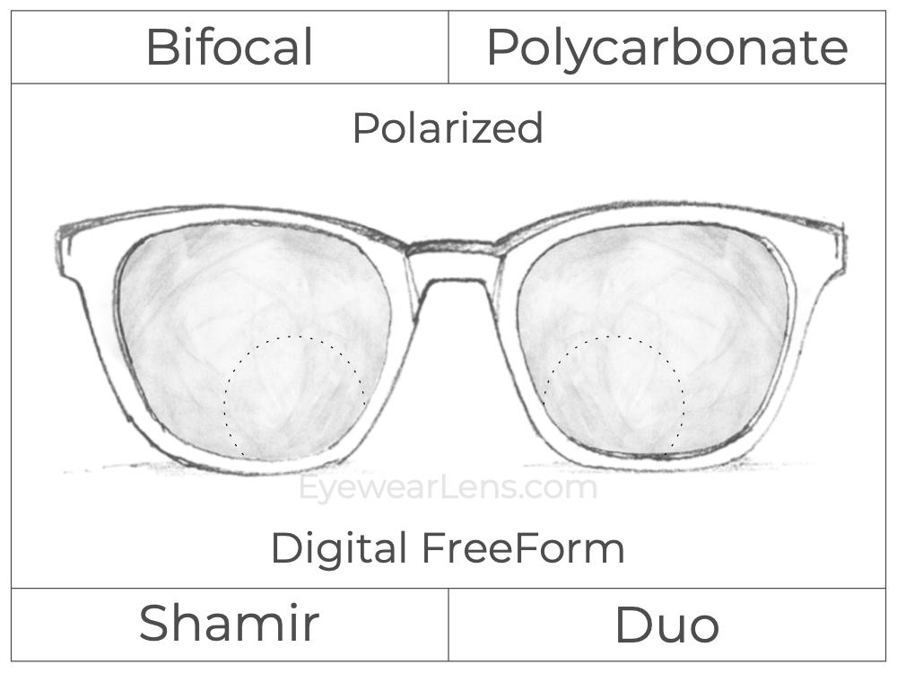 Bifocal - Shamir Duo - Polycarbonate - Digital FreeForm - Polarized