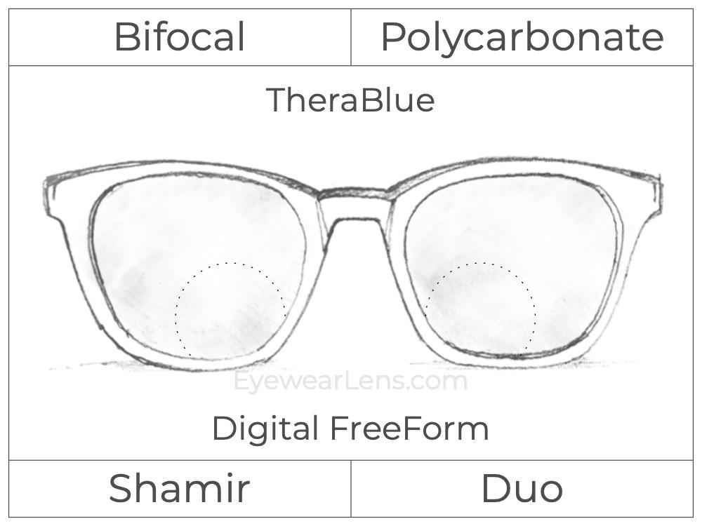 Bifocal - Shamir Duo - Polycarbonate - Digital FreeForm - TheraBlue