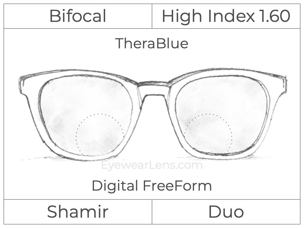 Bifocal - Shamir Duo - High Index 1.60 - Digital FreeForm - TheraBlue