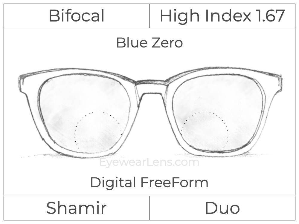 Bifocal - Shamir Duo - High Index 1.67 - Digital FreeForm - Blue Zero
