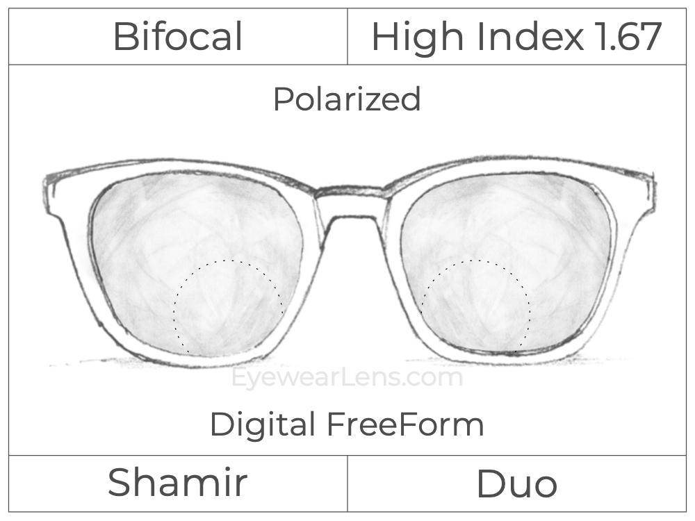 Bifocal - Shamir Duo - High Index 1.67 - Digital FreeForm - Polarized