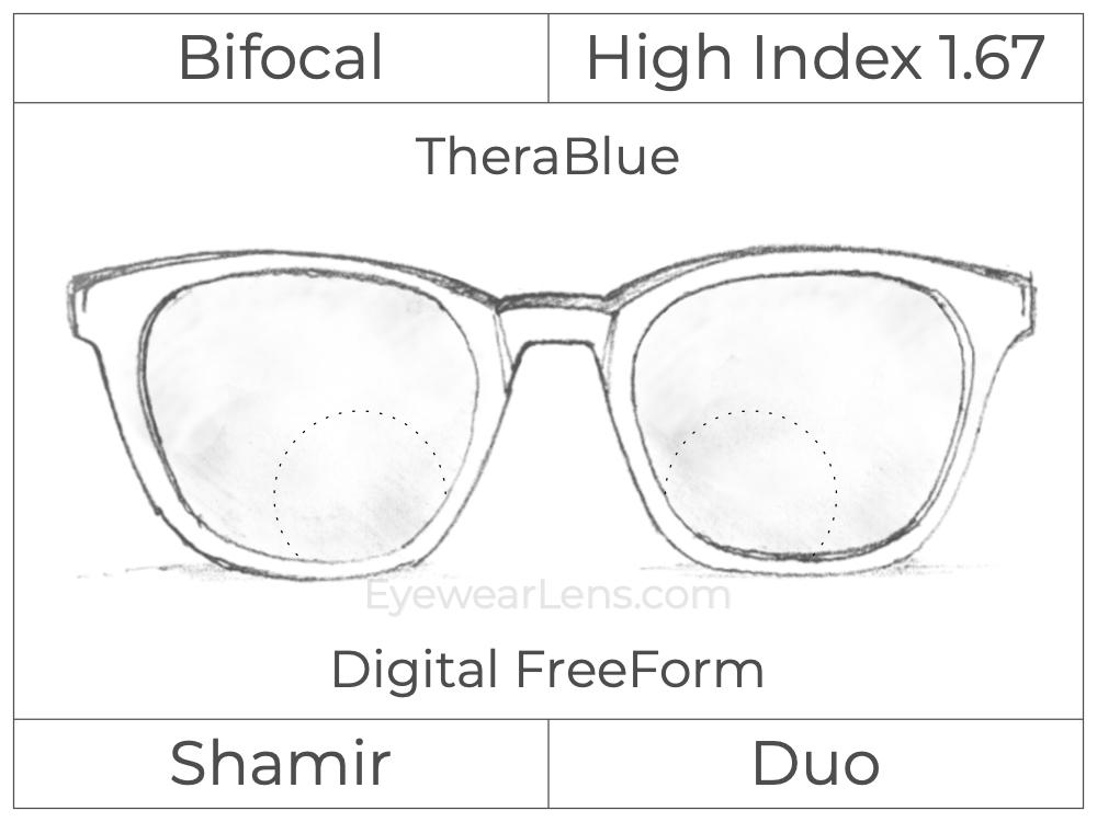 Bifocal - Shamir Duo - High Index 1.67 - Digital FreeForm - TheraBlue