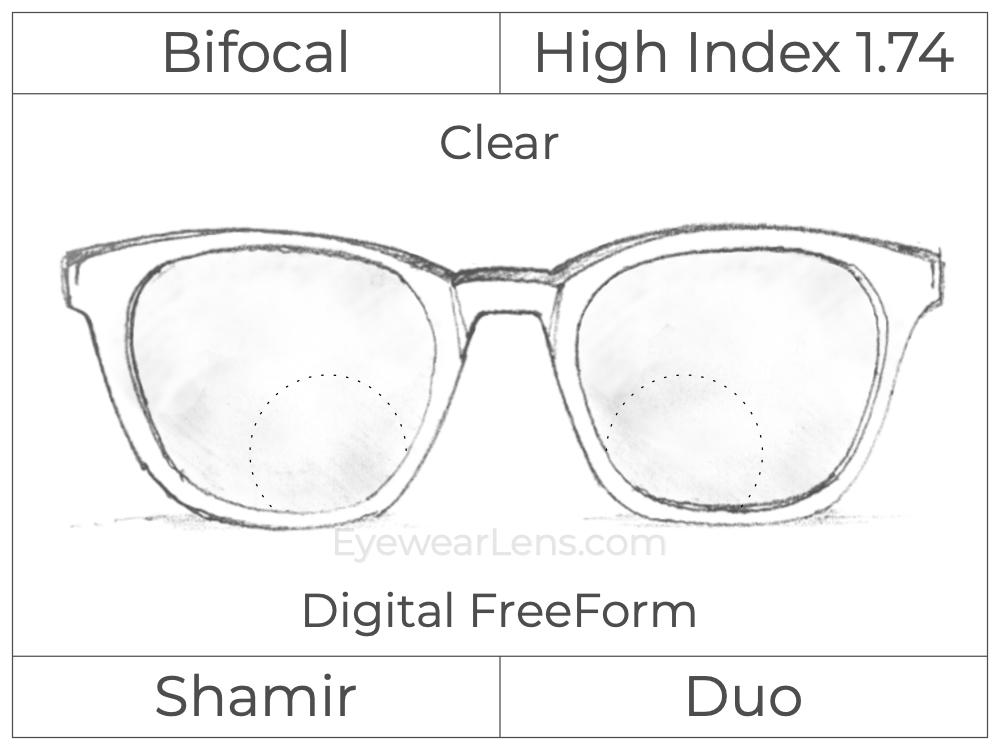 Bifocal - Shamir Duo - High Index 1.74 - Digital FreeForm - Clear