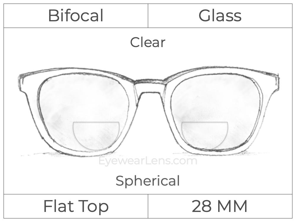 Bifocal - Flat Top 28 - Glass - Spherical - Clear