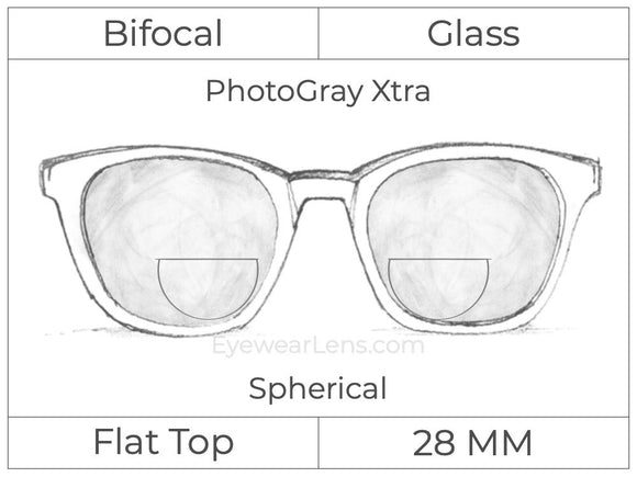 Bifocal - Flat Top 28 - Glass - Spherical - PhotoGray Xtra
