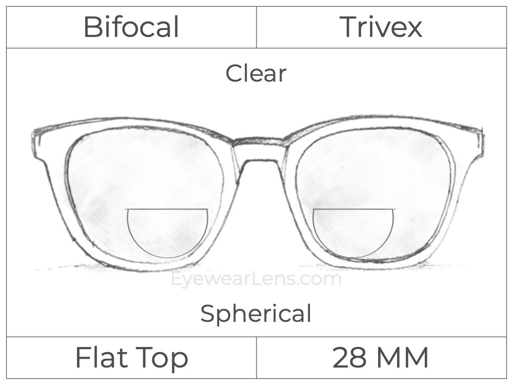 Bifocal - Flat Top 28 - Trivex - Spherical - Clear