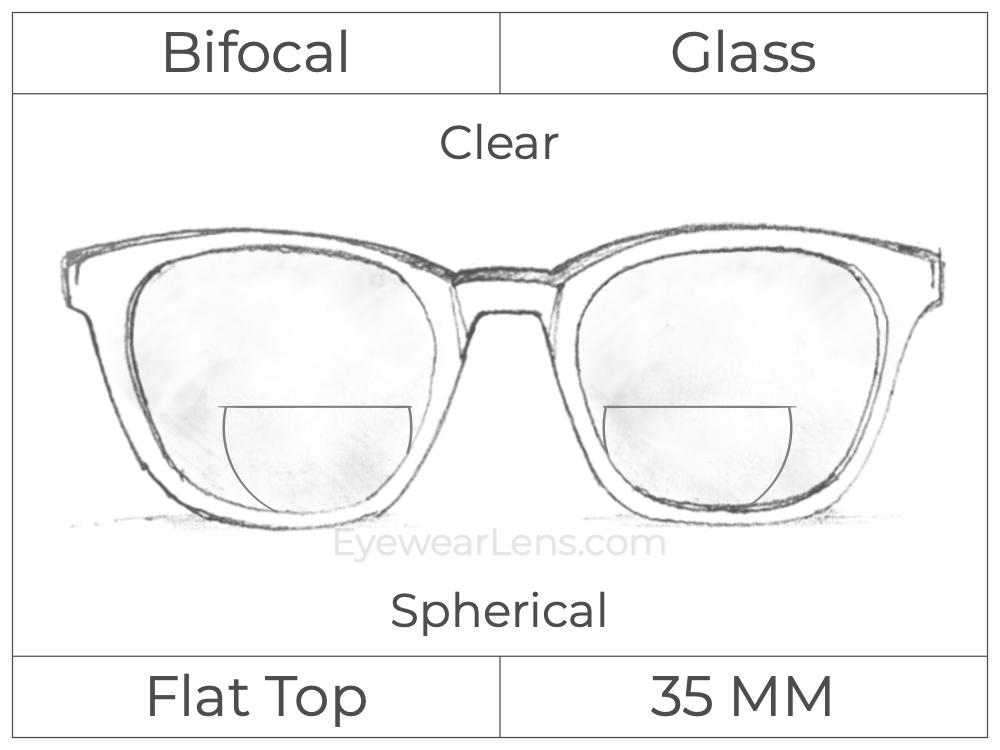 Bifocal - Flat Top 35 - Glass - Spherical - Clear