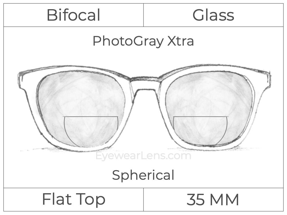 Bifocal - Flat Top 35 - Glass - Spherical - PhotoGray Xtra