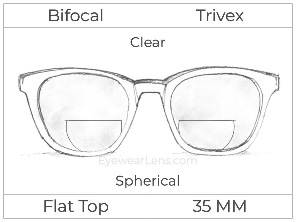 Bifocal - Flat Top 35 - Trivex - Spherical - Clear