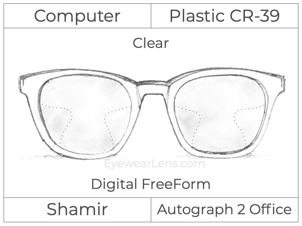 Computer Progressive - Shamir - Autograph 2 Office - Digital FreeForm - Plastic - Clear