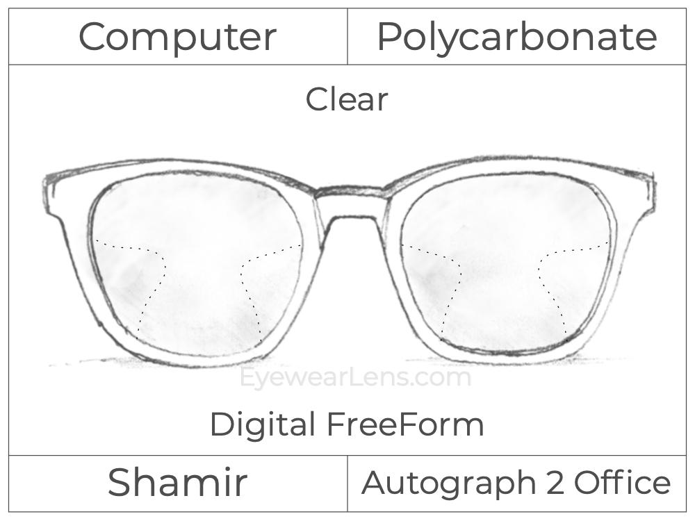 Computer Progressive - Shamir - Autograph 2 Office - Digital FreeForm - Polycarbonate - Clear