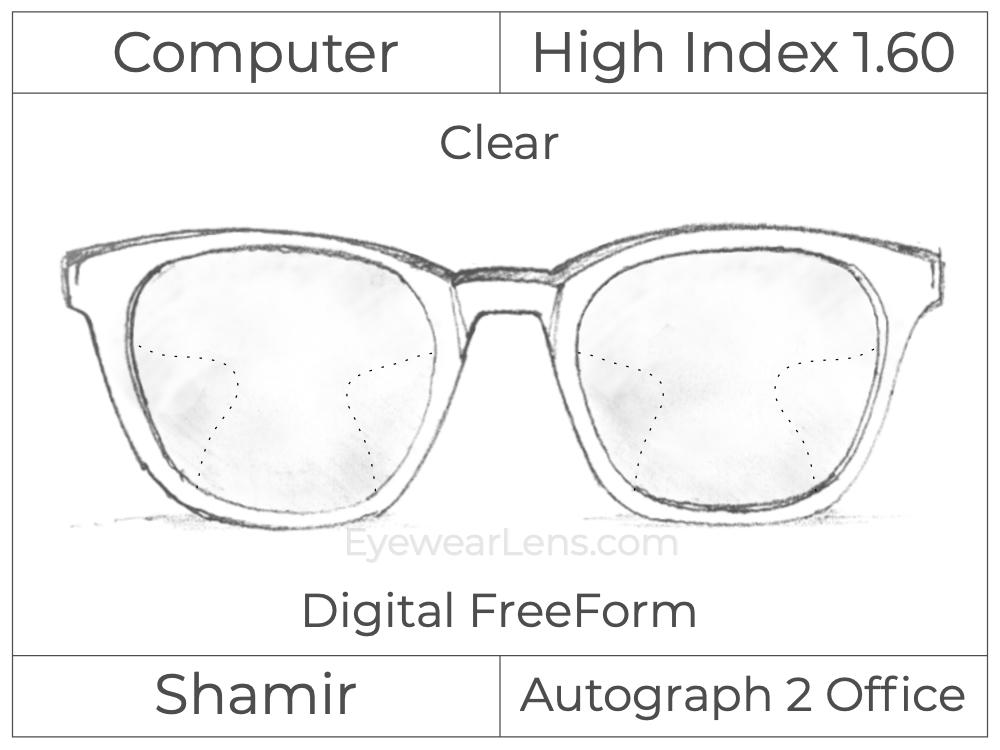 Computer Progressive - Shamir - Autograph 2 Office - Digital FreeForm - High Index 1.60 - Clear