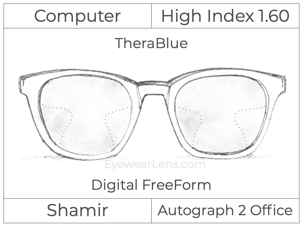 Computer Progressive - Shamir - Autograph 2 Office - Digital FreeForm - High Index 1.60 - TheraBlue