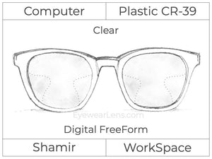Computer Progressive - Shamir - WorkSpace - Digital FreeForm - Plastic - Clear