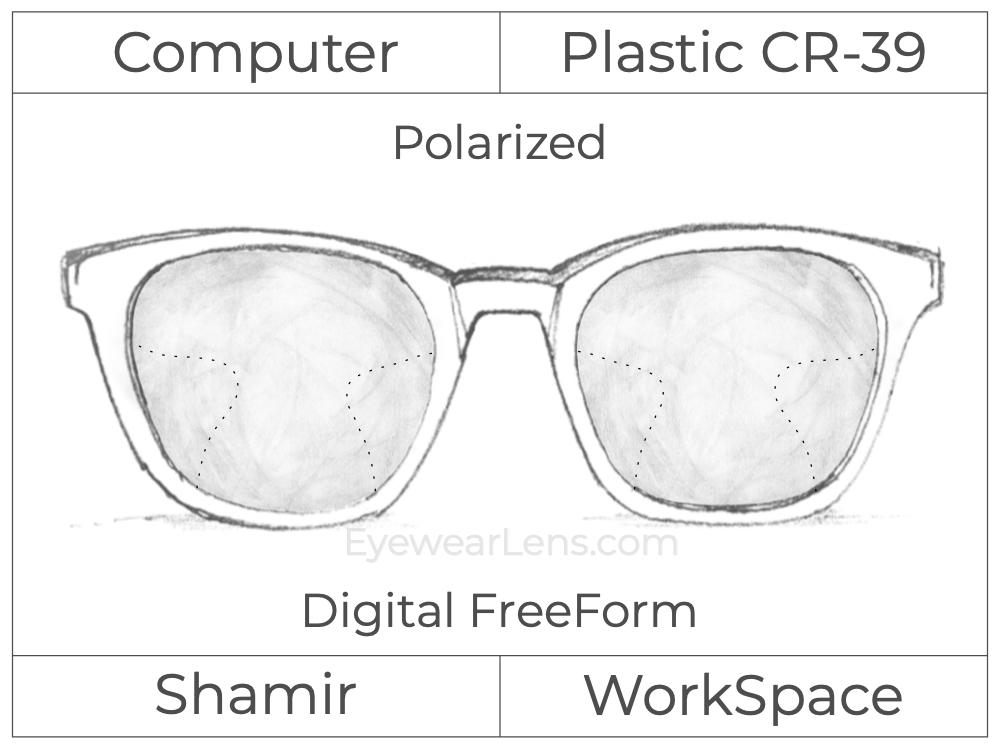 Computer Progressive - Shamir - WorkSpace - Digital FreeForm - Plastic - Polarized