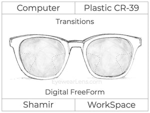 Computer Progressive - Shamir - WorkSpace - Digital FreeForm - Plastic - Transitions Signature