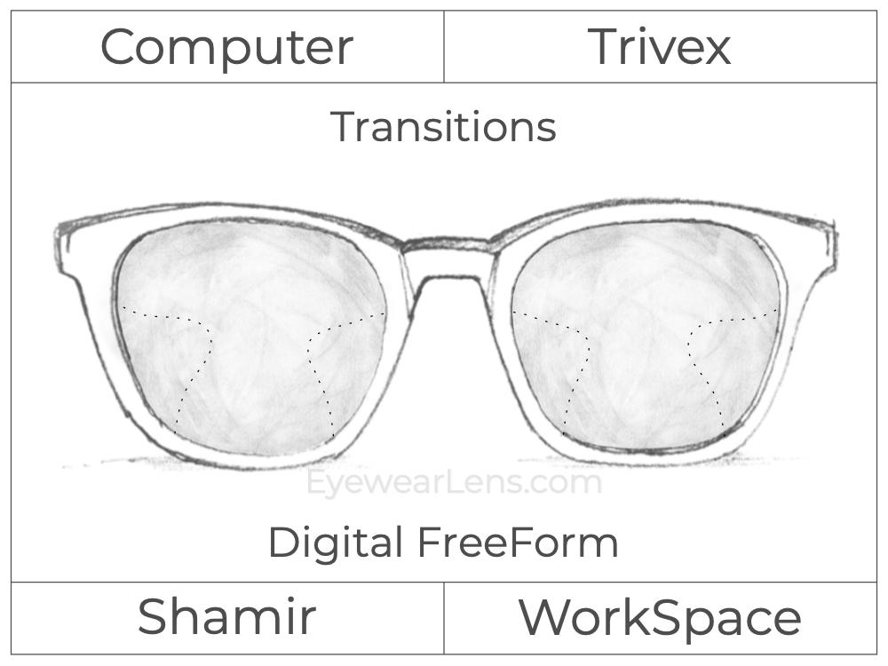 Computer Progressive - Shamir - WorkSpace - Digital FreeForm - Trivex - Transitions Signature