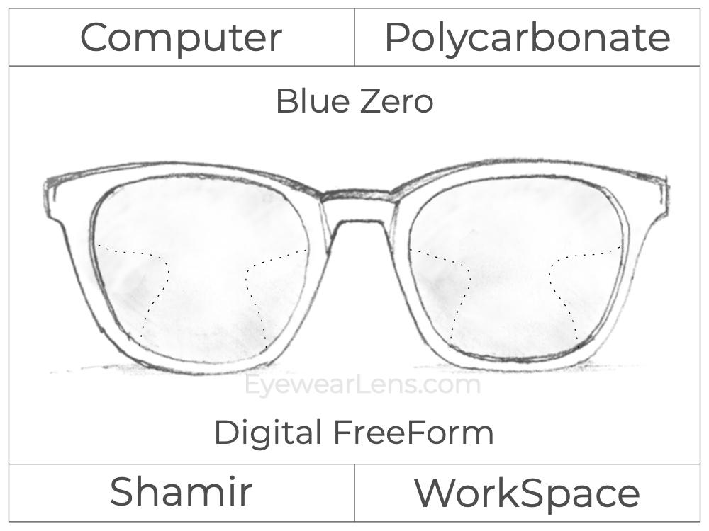 Computer Progressive - Shamir - WorkSpace - Digital FreeForm - Polycarbonate - Blue Zero