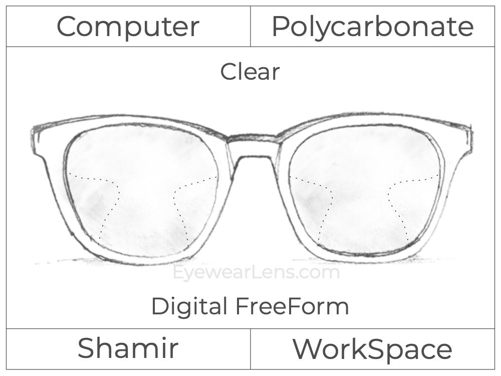 Computer Progressive - Shamir - WorkSpace - Digital FreeForm - Polycarbonate - Clear