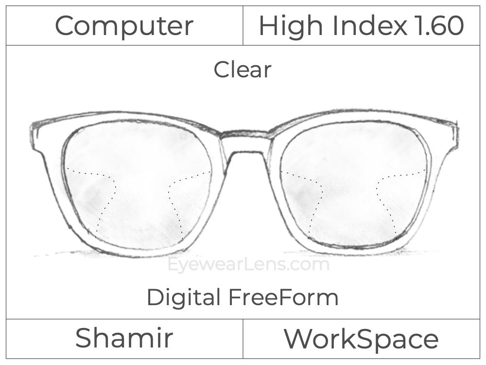 Computer Progressive - Shamir - WorkSpace - Digital FreeForm - High Index 1.60 - Clear