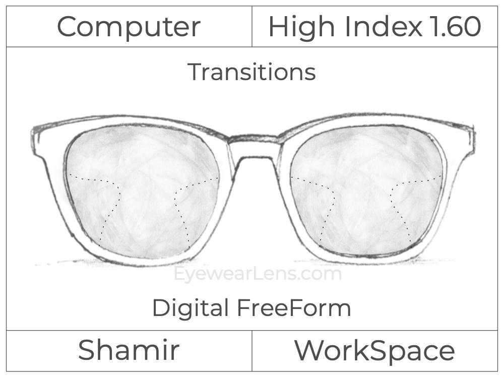 Computer Progressive - Shamir - WorkSpace - Digital FreeForm - High Index 1.60 - Transitions Signature