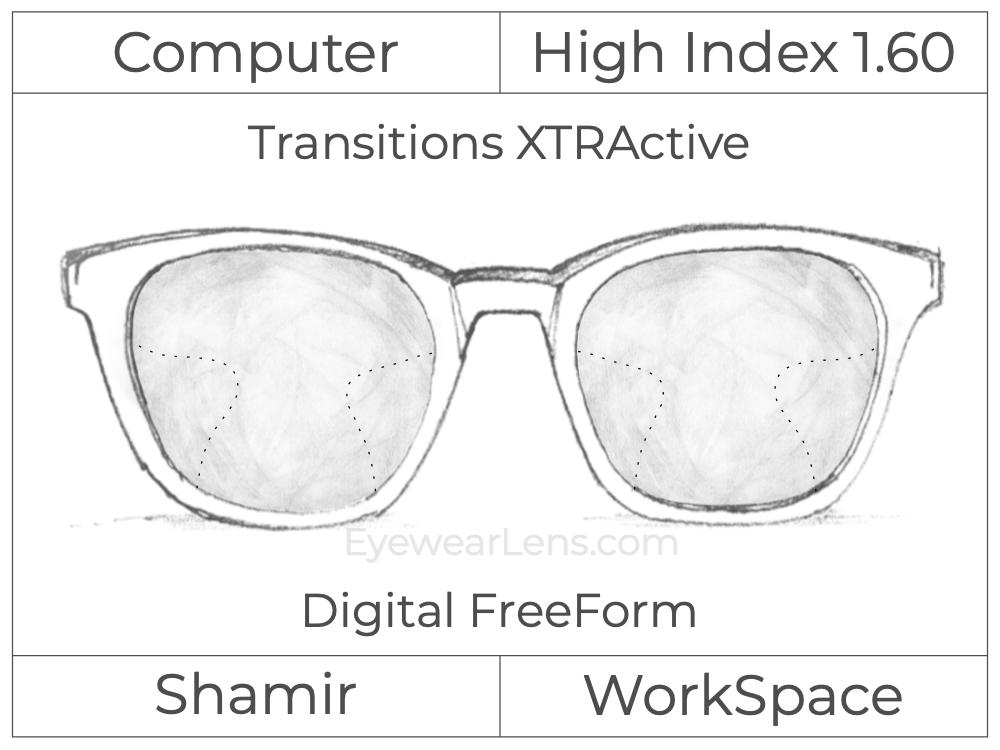 Computer Progressive - Shamir - WorkSpace - Digital FreeForm - High Index 1.60 - Transitions XTRActive